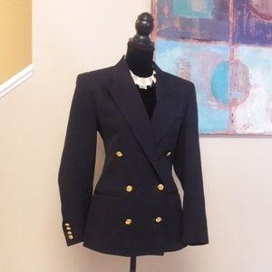 Austin Reed/ Navy/ Wool/ Military Style/ Blazer